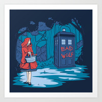 Big Bad Wolf Art Print by Karen Hallion Illustrations