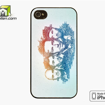 Coldplay Faces Lyrics Design iPhone 4S Case Cover by Avallen