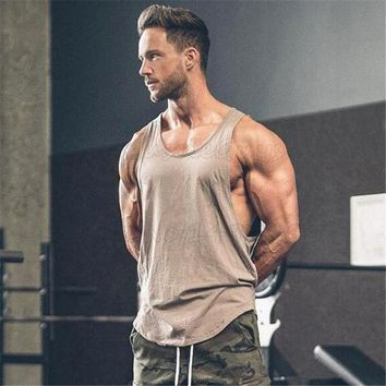 Brand gyms clothing Men Bodybuilding and Fitness Stringer Tank Top Golds Vest sportswear Undershirt muscle workout Singlets