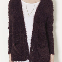 Knitted Long Fluffy Cardi