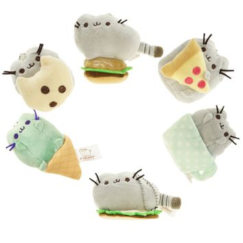 8cm New 6 Styles 2017 Kawaii Brinquedos Pusheen Cat Chain Toys Christmas Gift for Girls