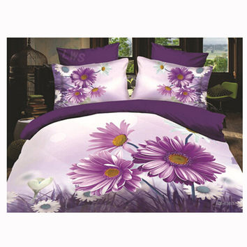 3D Queen King Size Bed Quilt/Duvet Sheet Cover Cotton reactive printing 4pcs 1.5M bed 41