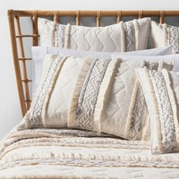 White Moroccan Wedding Quilt - Opalhouse™