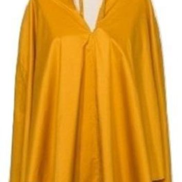 Cirra By Shedrain Adult Packable Rain Poncho, Gold, One Size
