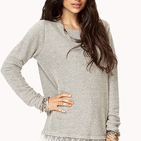 Lace-Trimmed Sweatshirt | FOREVER 21 - 2000093151