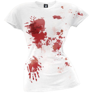 Halloween Blood Splatter Juniors T-Shirt