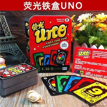 Family Friends party Board game Family Funny Entertainment  UNO Fun Poker Playing Cards Puzzle Games family fun poker russian rules free shipping AT_41_3