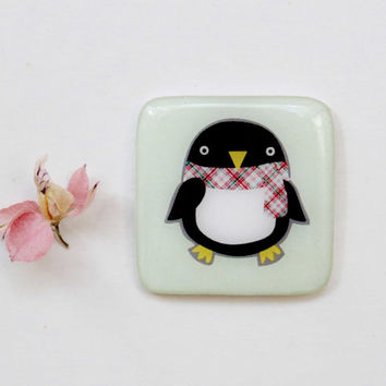 FREE SHIPPING Penguin magnet gift Animal fridge magnet Penguin fridge magnet Cute magnet neodymium magnets Glass magnet(0054) kitchen magnet