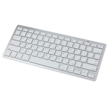 High Quality Slim Mini White Bluetooth Wireless Keyboard For MAC Window keyboard with Russian letters