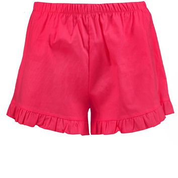 Louise Frill Button Shorts   Boohoo