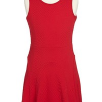 Soprano Textured Knit Skater Dress (Big Girls)
