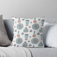 'Moroccan Souk' Throw Pillow by yaansoon
