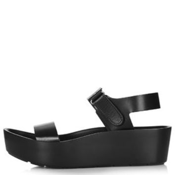 FERN Sunken Wedge Sandals - Black