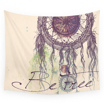 Society6 Be Free Wall Tapestry