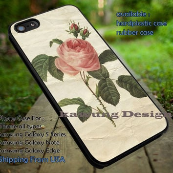 Vintage Pink Rose Flower iPhone 6s 6 6s+ 5c 5s Cases Samsung Galaxy s5 s6 Edge+ NOTE 5 4 3 #art dt
