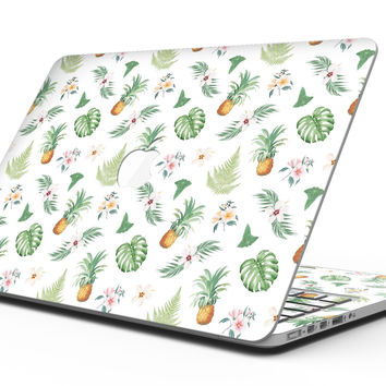 The Tropical Pineapple and Floral Pattern - MacBook Pro with Retina Display Full-Coverage Skin Kit