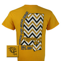 Southern Miss USM Golden Eagles Mississippi State Chevron Girlie Bright T Shirt