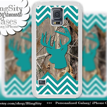 Buckhead Antlers Galaxy S4 case S5 Turquoise Chevron Stripes Real Tree Camo Deer Monogram Galaxy S3 Case Note 2 3 Cover Zig Zag