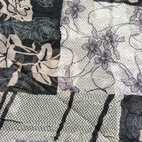 Sheer Crinkle Scarf Fabric by the Yard