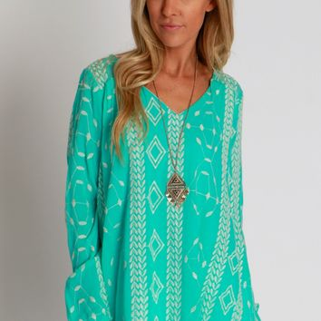 Mint To Be Embroidered Blouse