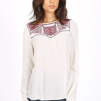 High Noon Embroidered Top