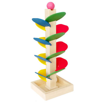 Montessori Educational toy Blocks Wooden Tree Marble Ball Run Track Game Baby Kids Children Intelligence Early Educational Toy