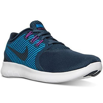 NIKE WOMENS SHOES FREE RN COMMUTER RUNNING LIGHTWEIGHT SNEAKER (8 M US, SQUADRON BLUE/DARK OBSIDIAN)