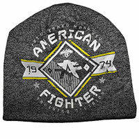 American Fighter by Affliction Massachussets Beanie Hat Black O/S
