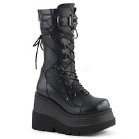 Demonia Shaker 70 Black Platform Gothic Punk Boot