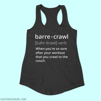Barre Workout Funny Workout Tank