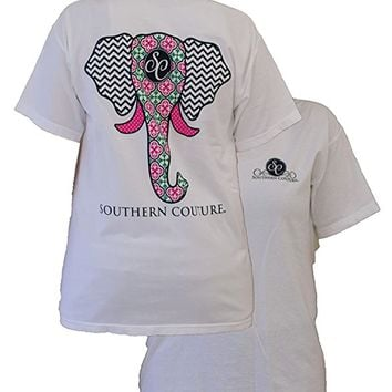 Women's Elephant Short-Sleeve Tee Shirt