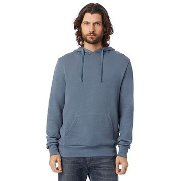 Alternative Apparel - Challenger Washed French Terry Pullover Washed Denim Hoodie