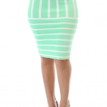 Loaded Stripe Skirt