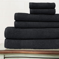 Egyptian Cotton 6-piece Solid Towel Set | Overstock.com Shopping - The Best Deals on Bath Towels
