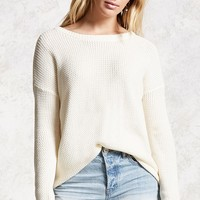 Cutout Back Sweater