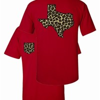 TEXAS LEOPARD WITH FAUX POCKET