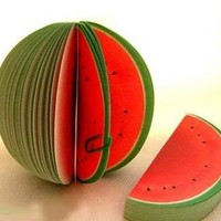 Fruit Memo Pad: Watermelon