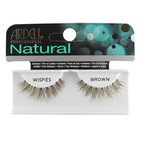Ardell Natural Eye Lashes, Wispies Brown