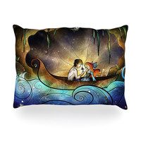 """Mandie Manzano """"Something About Her"""" Mermaid Outdoor Throw Pillow"""
