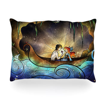 """Mandie Manzano """"Something About Her"""" Mermaid Oblong Pillow"""