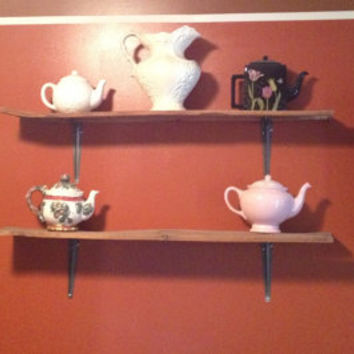 Rustic Shadow Box and Shelf Set Up-cycled from Wooden Pallets