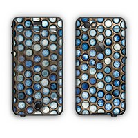 The Blue Tiled Abstract Pattern Apple iPhone 6 Plus LifeProof Nuud Case Skin Set