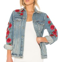 GRLFRND Daria Oversized Denim Jacket in Endless Love | REVOLVE