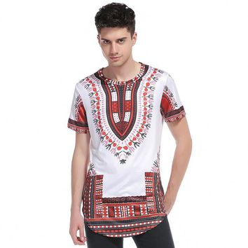 New stlye 2017 African Dashiki t-shirts Men hip hop 3d printed