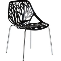 Birds Nest Dining Side Chair in Black