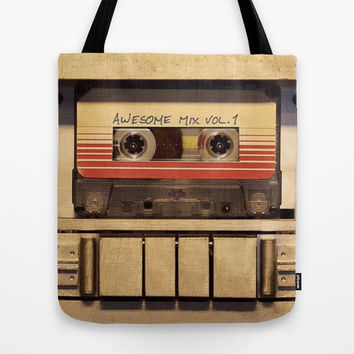 Awesome Mix Vol 1 Tote Bag by Foreverwars