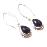 Amethyst Earrings  , Sterling Silver Earrings  ,  Genuine Amethyst  Earrings