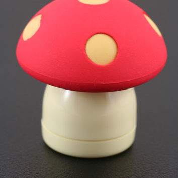 Red Mushroom Eraser and Sharpener