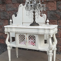 OMG Shabby French White CHIC Sofa Console Stand Table by picks4u