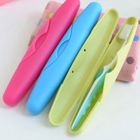 Portable Traveling Toothbrush Storage Protective Box 4 Candy Colors Storage Protective Box